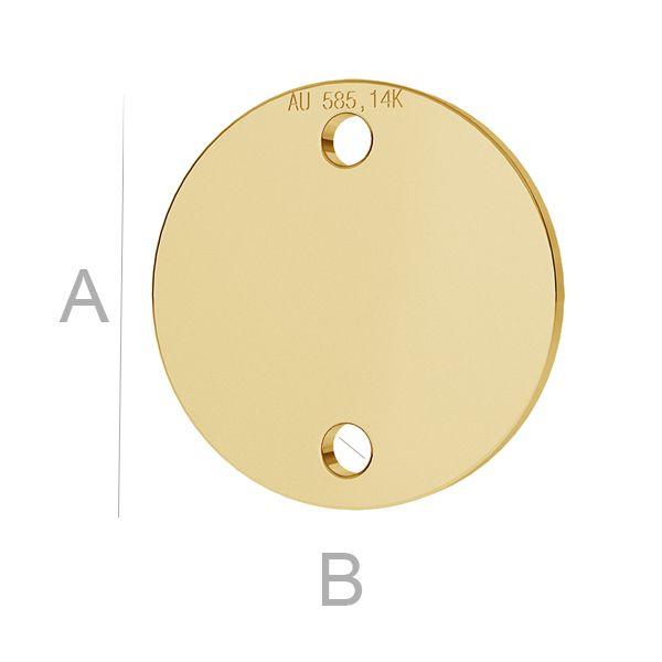 banut aur 14k 10 mm link  au585 placat cu aur de 24 k