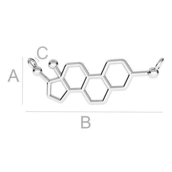molecula estrogen, argint 925