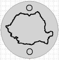 Banut argint 12 mm gravat