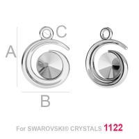 charm argint 925 pentru rivoli de 6 mm