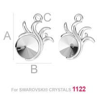 pandant ,argint 925 pentru rivoli de 8 mm