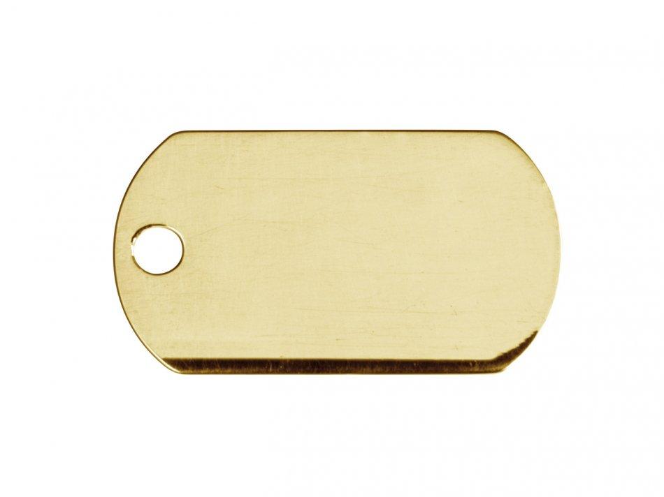 Tablita army  gold filled  22x13 mm Gravare foto gratuita