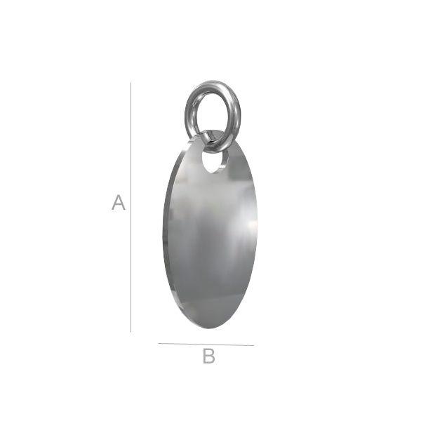 banut oval argint 925