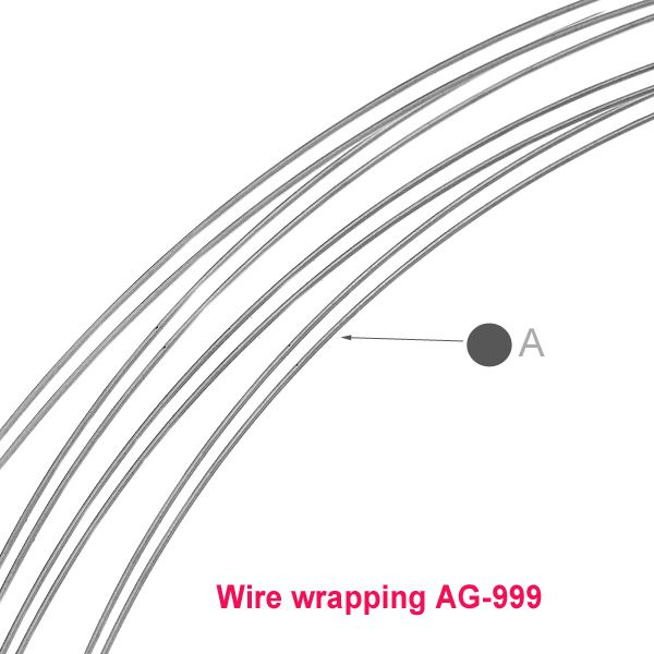 sarma de argint 0.4 mm soft  WIRE WRAPPING / 0,5 metru