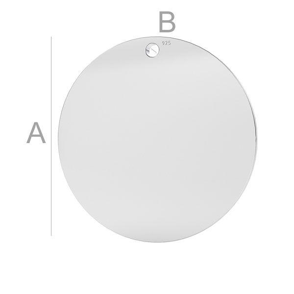 banut argint 23 mm grosime 0,5 pentru gravare