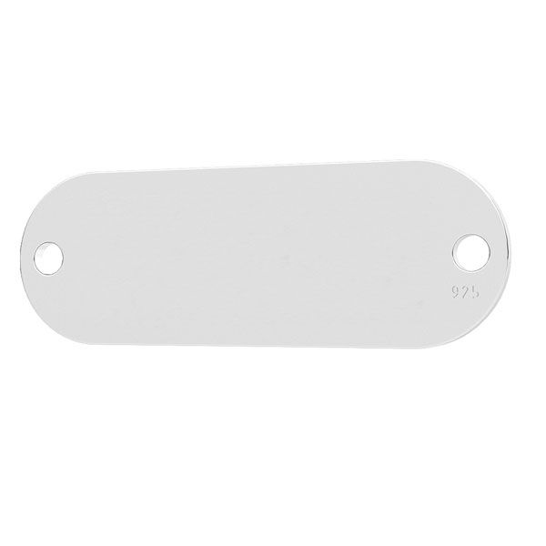 tablita ovala, argint 925