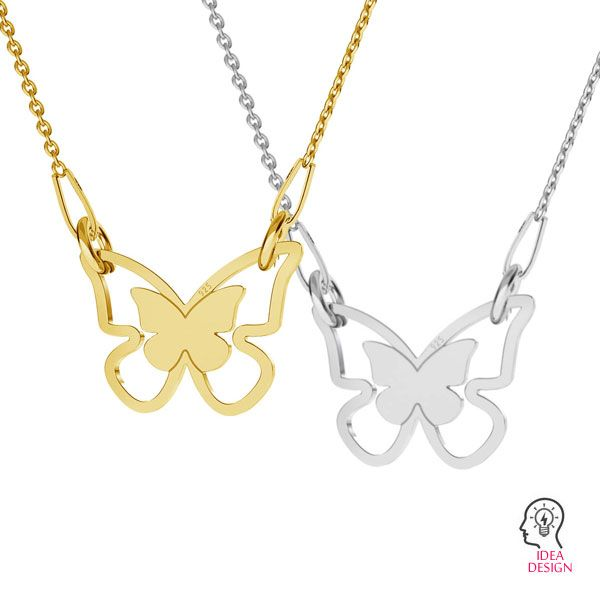 pandant fluture  argint 925