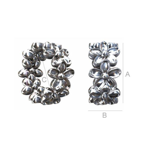 spacer argint 925  7.4 mm