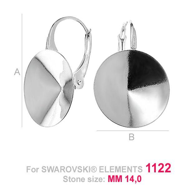 tortita  rivoli 14 mm argint 925