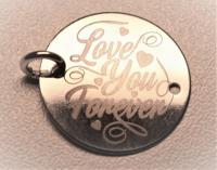 banut argint gravat Forever Love