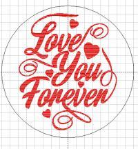 banut argint gravat Forever Love argint 925