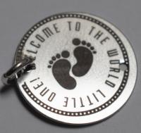 banut gravat 16 mm argint new baby argint 925