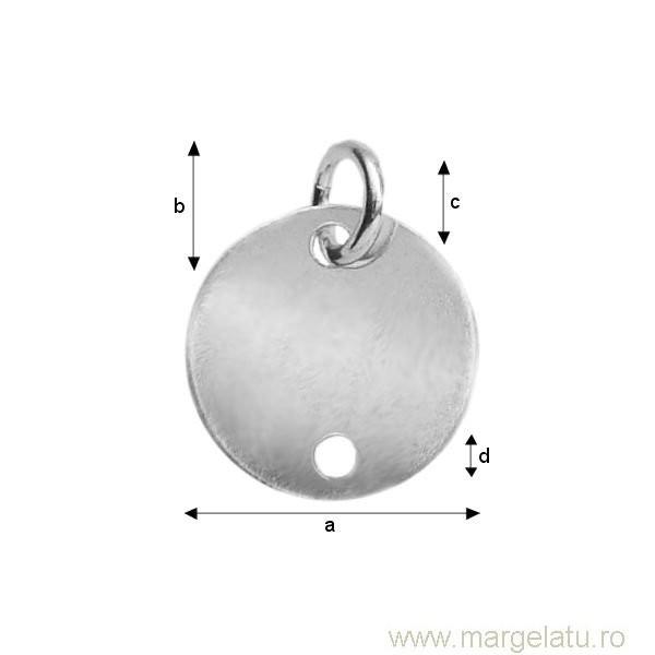 Accesoriu argint .925 banut 10 mm cod ag052