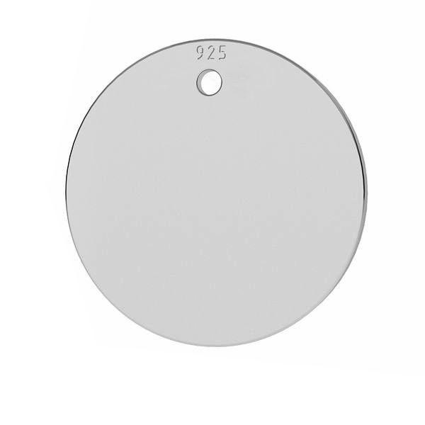 banut argint 925,  19 mm grosime 0.5