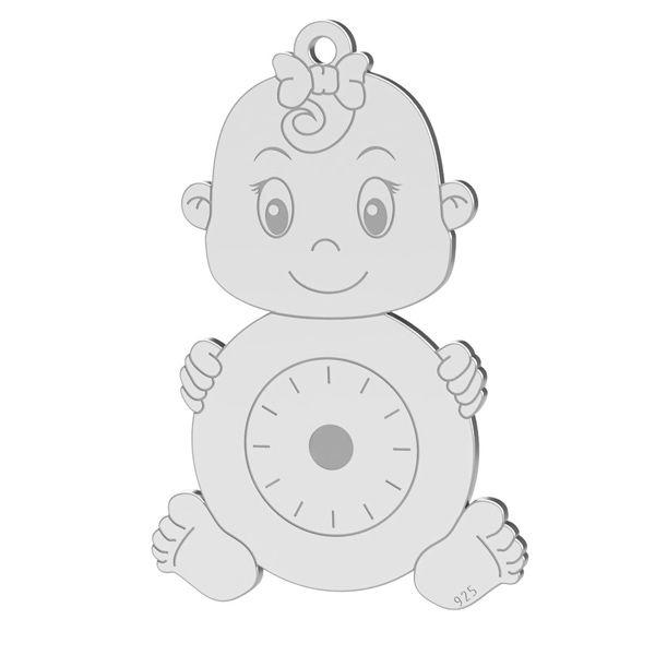 pandant fetita argint 925