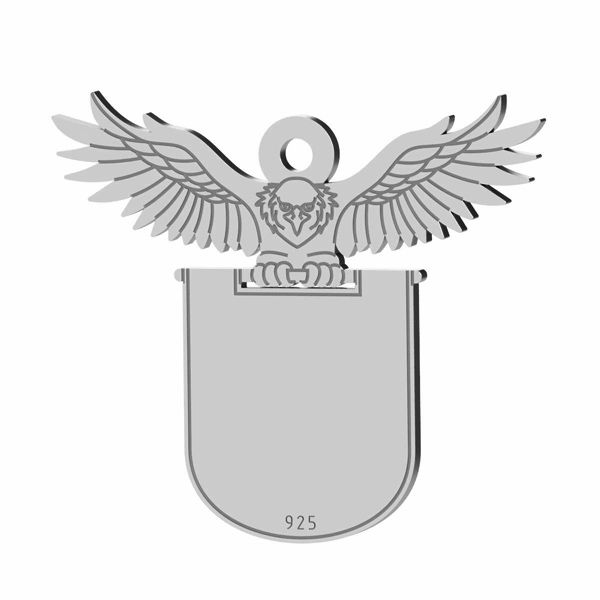 Pandant vultur argint 925