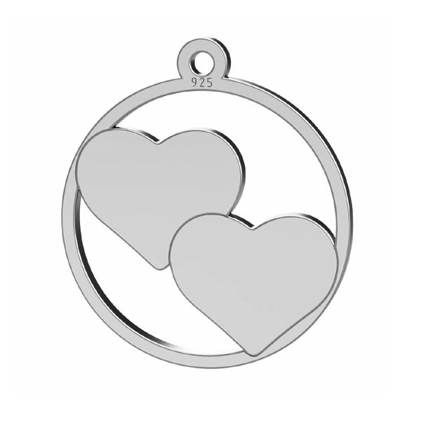 pandant argint inimii 18x16 mm