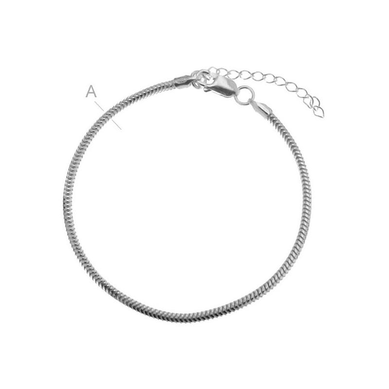 Bratara tip pandora 18+4 cm argint 925