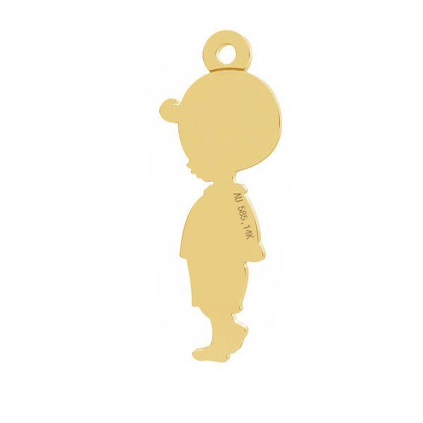 pandant baietel aur 14k placat cu aur de 24 k 19 mm
