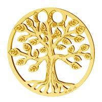copacul vietii aur 14 k 19 mm  placat cu aur de 24 k