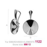 acesoriu pandant argint 925 pentru swarovski 1122 12 mm