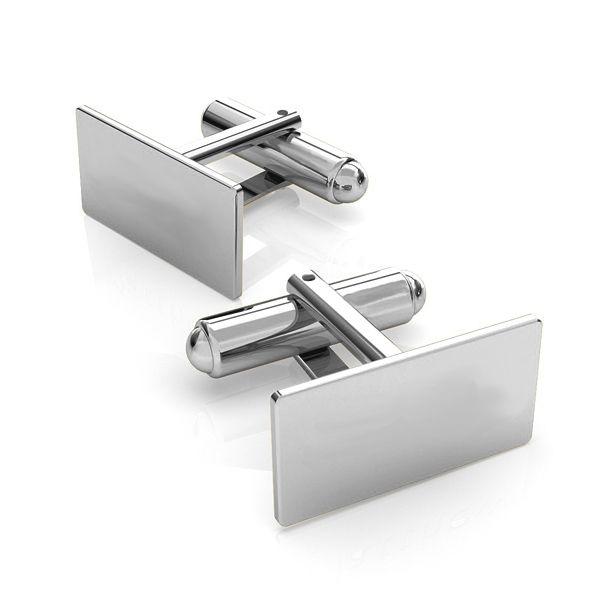 buton argint 925- dreptunghi