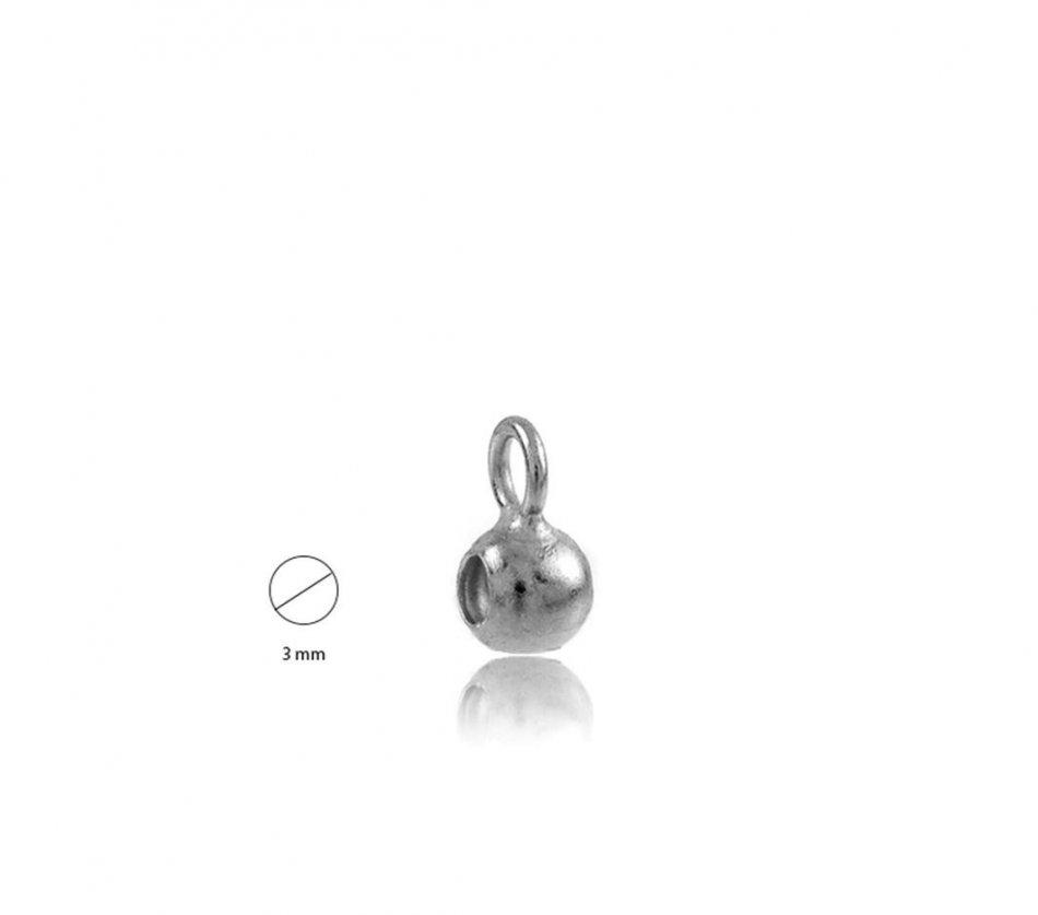 conector- diastntier argint 925 3 mm