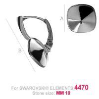 Tortita, leverback argint 925 pentru swarovski4470 10 mm