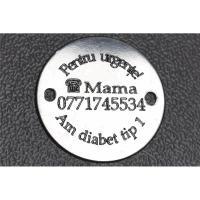 banut 16 mm personalizat argint 925