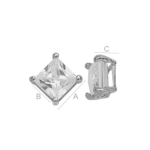 Element argint 925 cu zircon 6x6