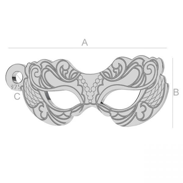 charm argint 925 - masca