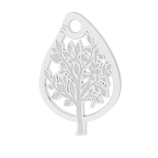 charm argint 925 frunza
