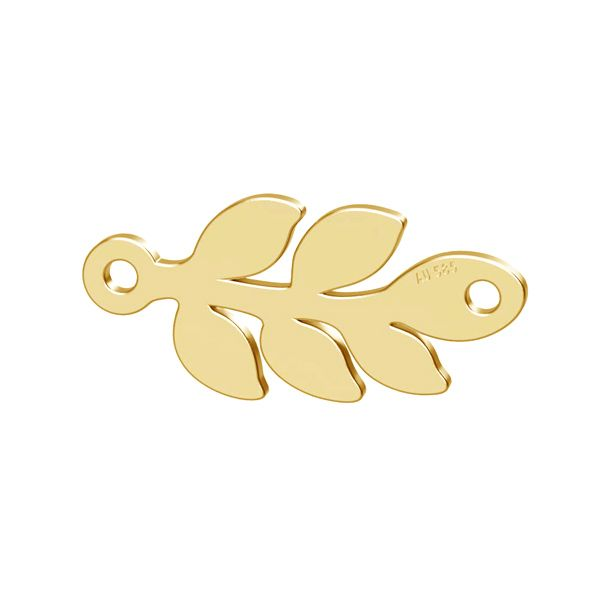 frunza aur 14k au585 placat cu aur de 24 k