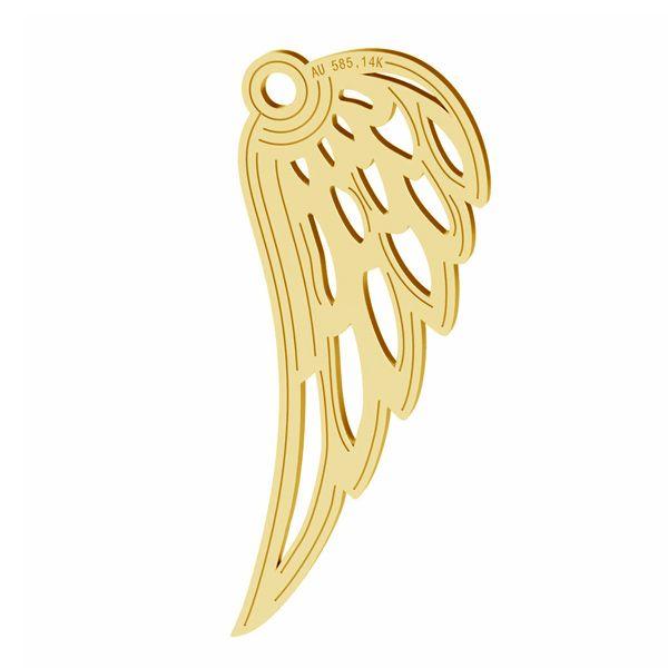 aripa aur 14k au585 R placat cu aur de 24 k