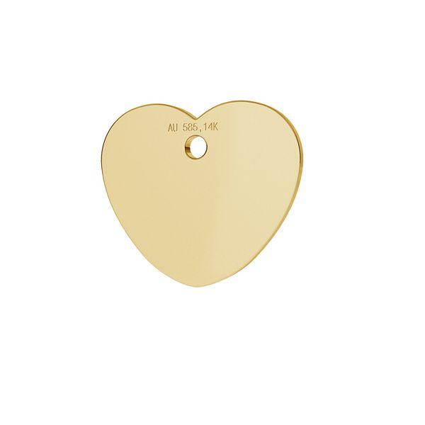 inima aur 14k au 585 placat cu aur de 24 k