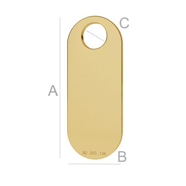 pandant aur 14k au585  placat cu aur de 24 k