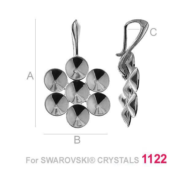 accesoriu argint 925 pandant  pentru swarovski 1122 ss24