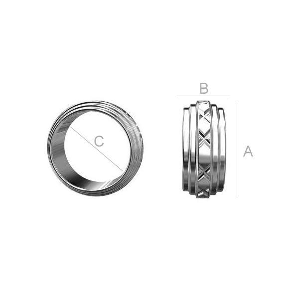 rondele argint 925