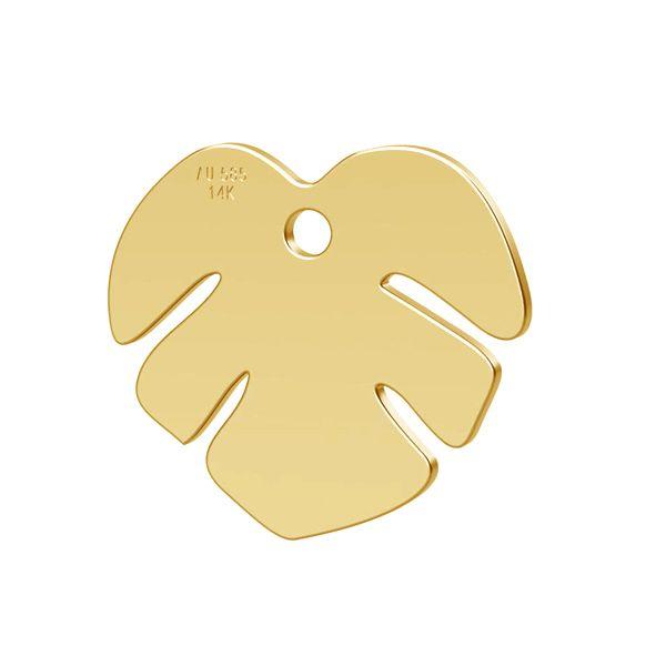 frunza aur 14k - au 585 placat cu aur de 24 k