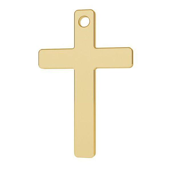 cruce aur 14k au585 22 mm  placat cu aur de 24 k