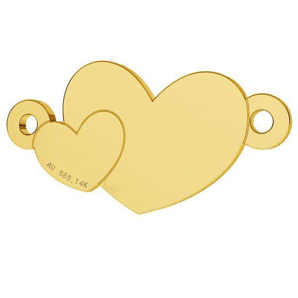 inima aur 14k au585 placat cu aur de 24 k