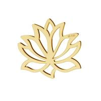 Lotos flower pendant gold 14K