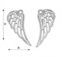 Aripa inger,25.4*10.10 mm argint .925 cod ag061 / pereche