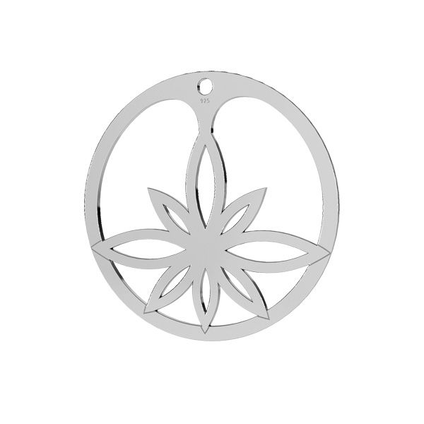 pandant argint 925 floare de lotus