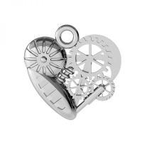 pandant argint 925 inima mecanica
