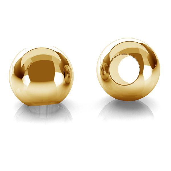 Bila aur 2.5 mm 14k au585 placata cu aur de 24 K