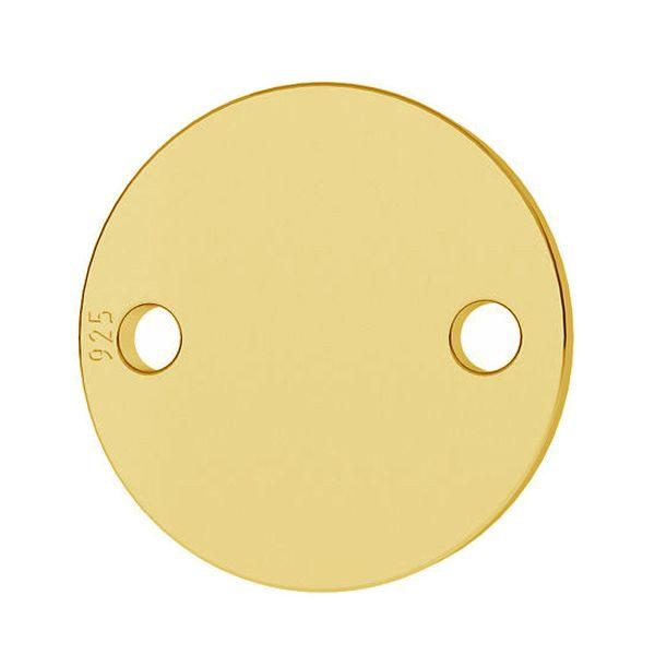 banut 19 mm  argint 925 placat cu aur 24 k