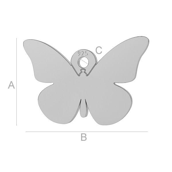 fluture argint 925