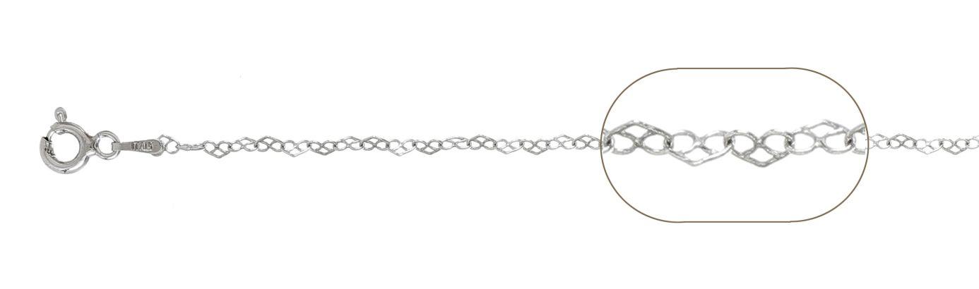 Lant argint 925 love 38 cm, grosime 2 mm