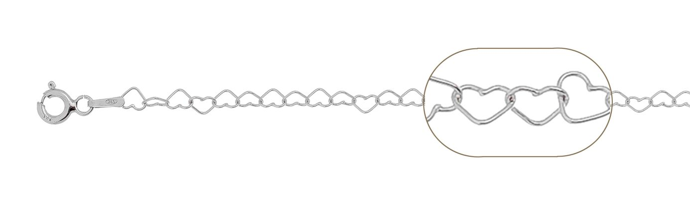 lant argint 925 inimi  50 cm, grosime 3 mm
